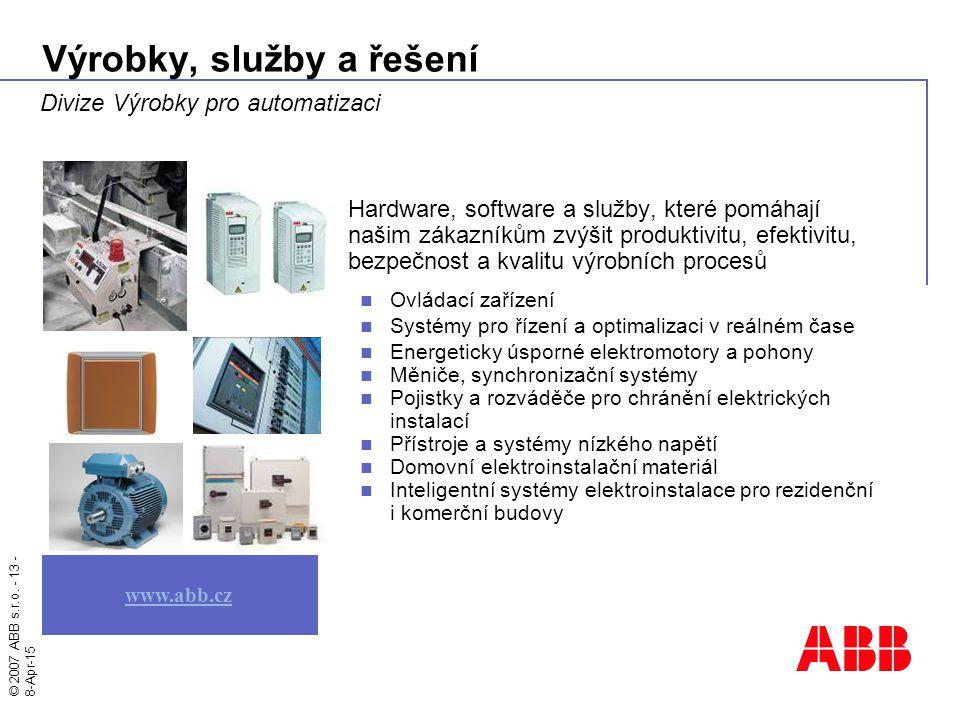 Výrobky, služby a řešení