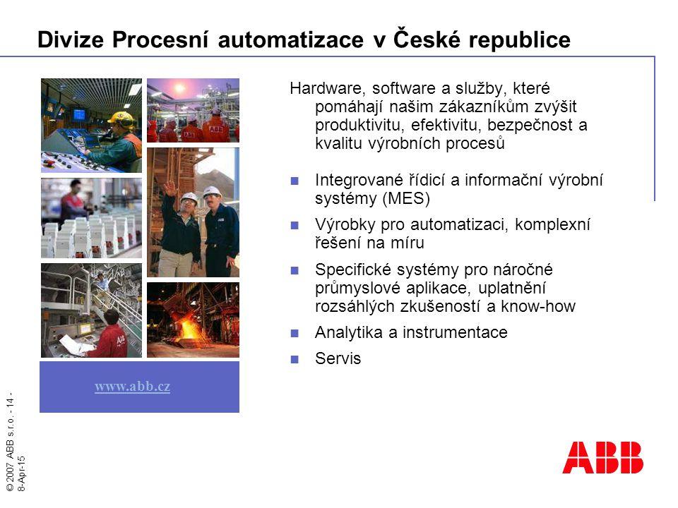 Divize Procesní automatizace v České republice