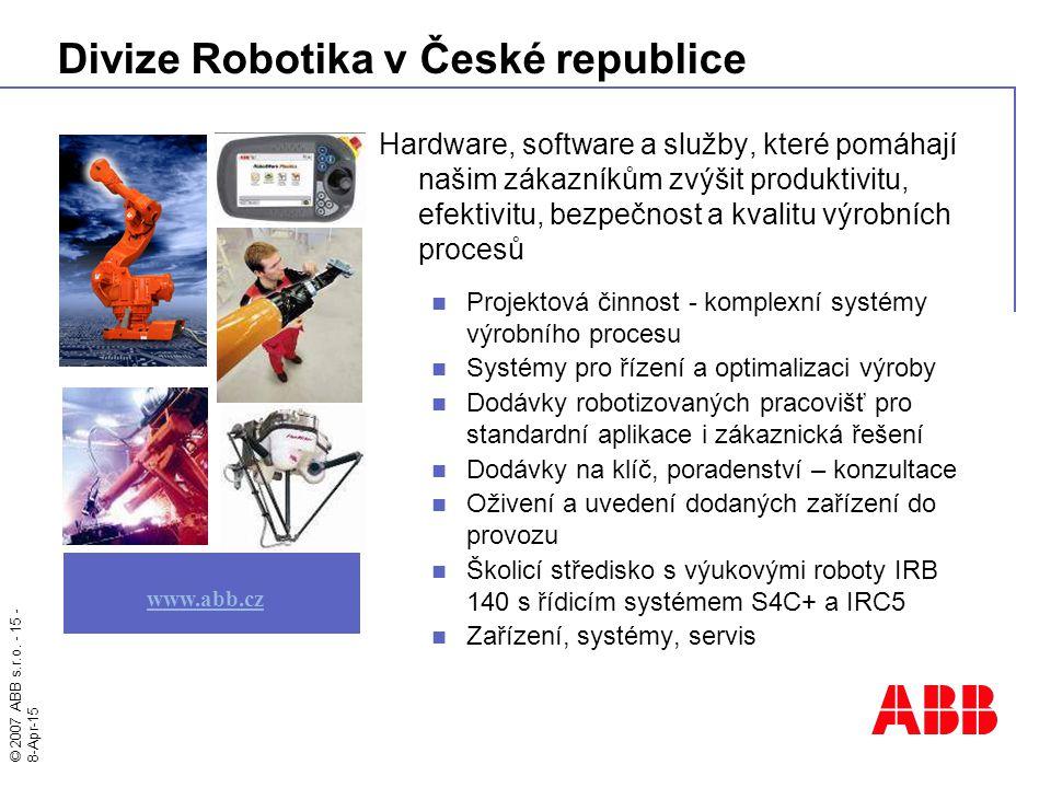 Divize Robotika v České republice