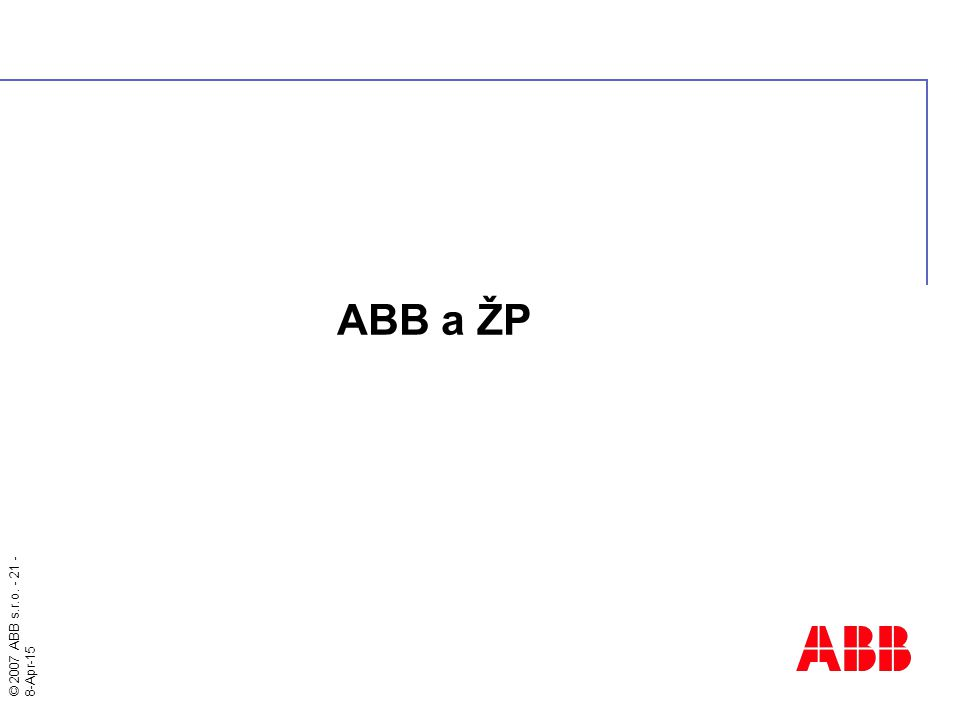 ABB a ŽP