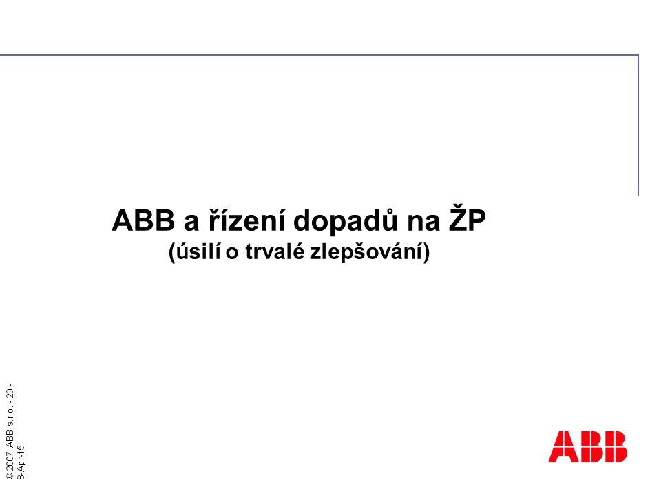 ABB a řízení dopadů na ŽP (úsilí o trvalé zlepšování)