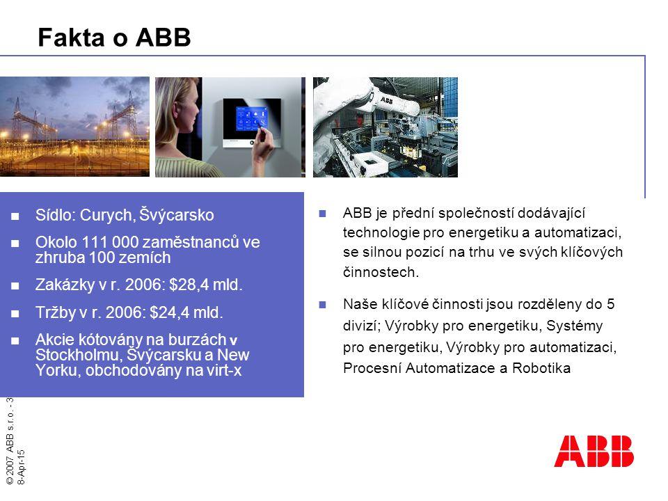 Fakta o ABB Sídlo: Curych, Švýcarsko
