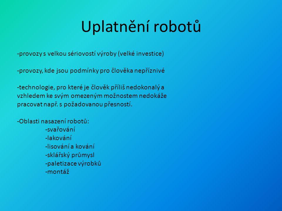 Uplatnění robotů