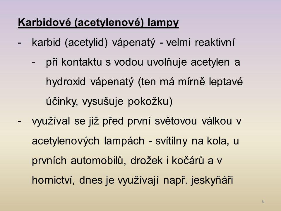 Karbidové (acetylenové) lampy