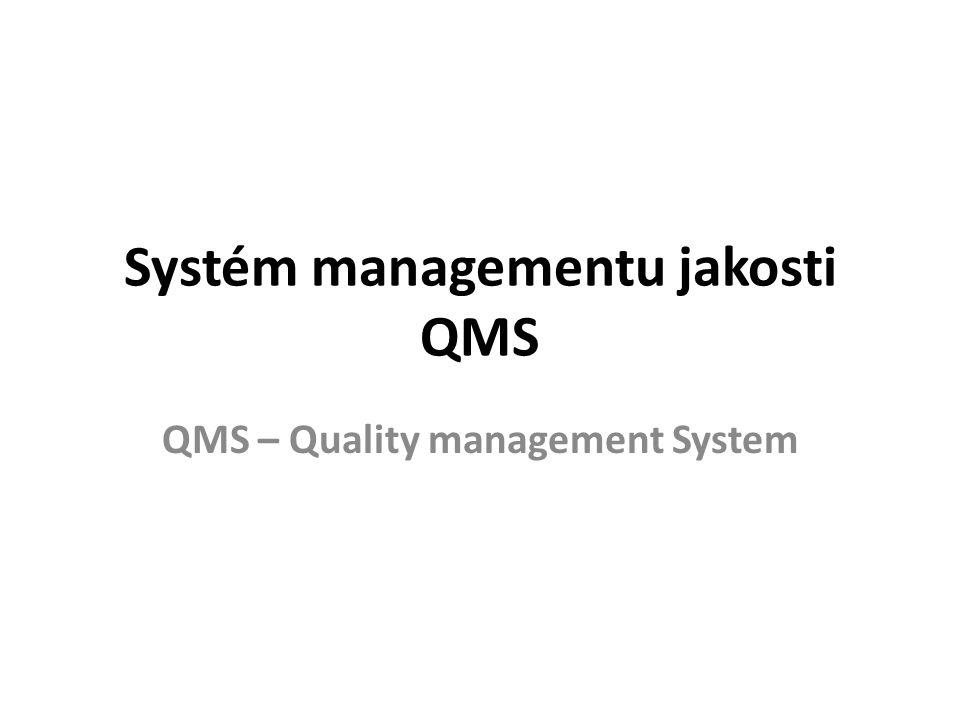 Systém managementu jakosti QMS