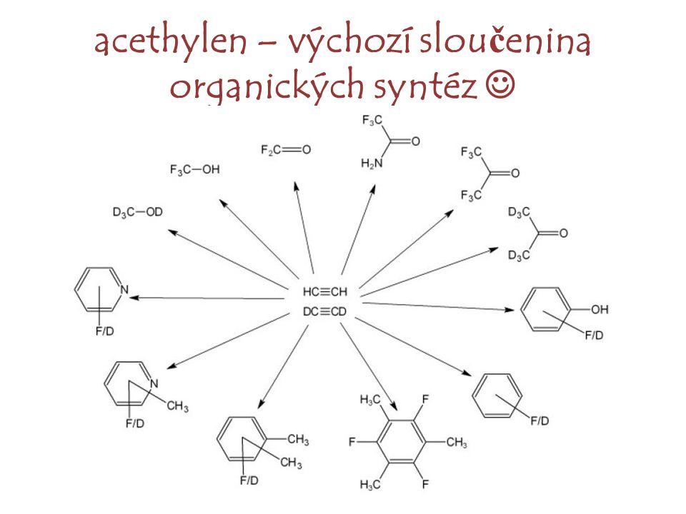 acethylen – výchozí sloučenina organických syntéz 