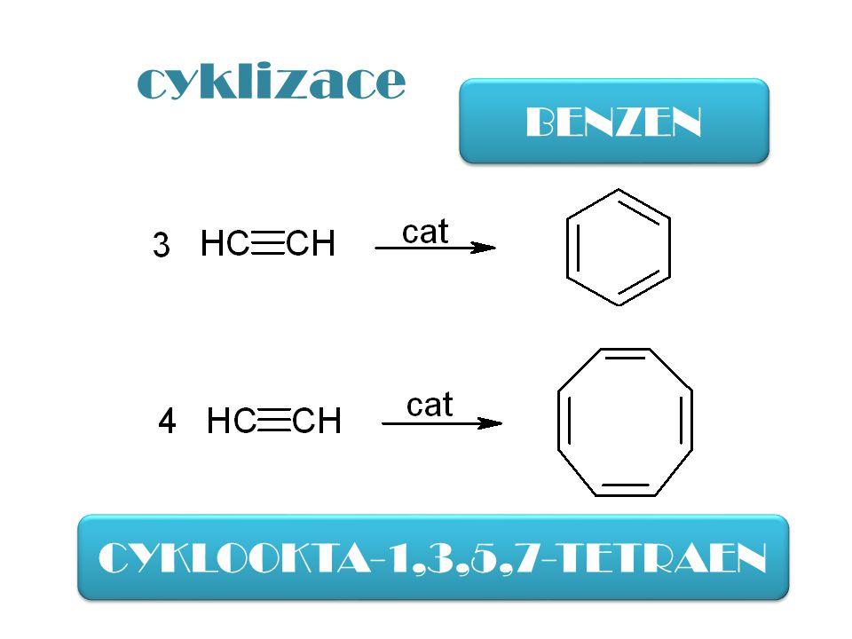 cyklizace BENZEN CYKLOOKTA-1,3,5,7-TETRAEN