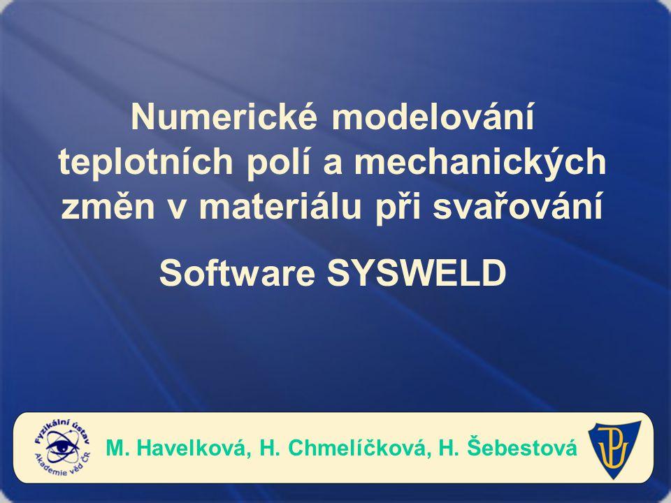 M. Havelková, H. Chmelíčková, H. Šebestová