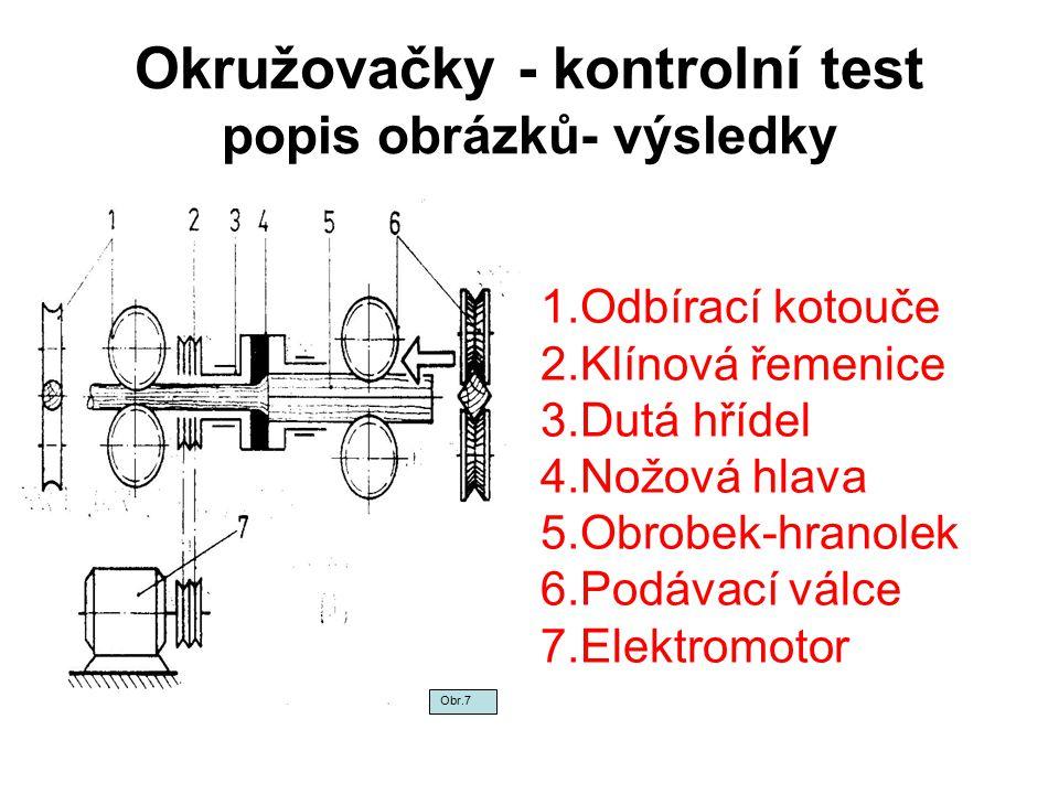 Okružovačky - kontrolní test popis obrázků- výsledky