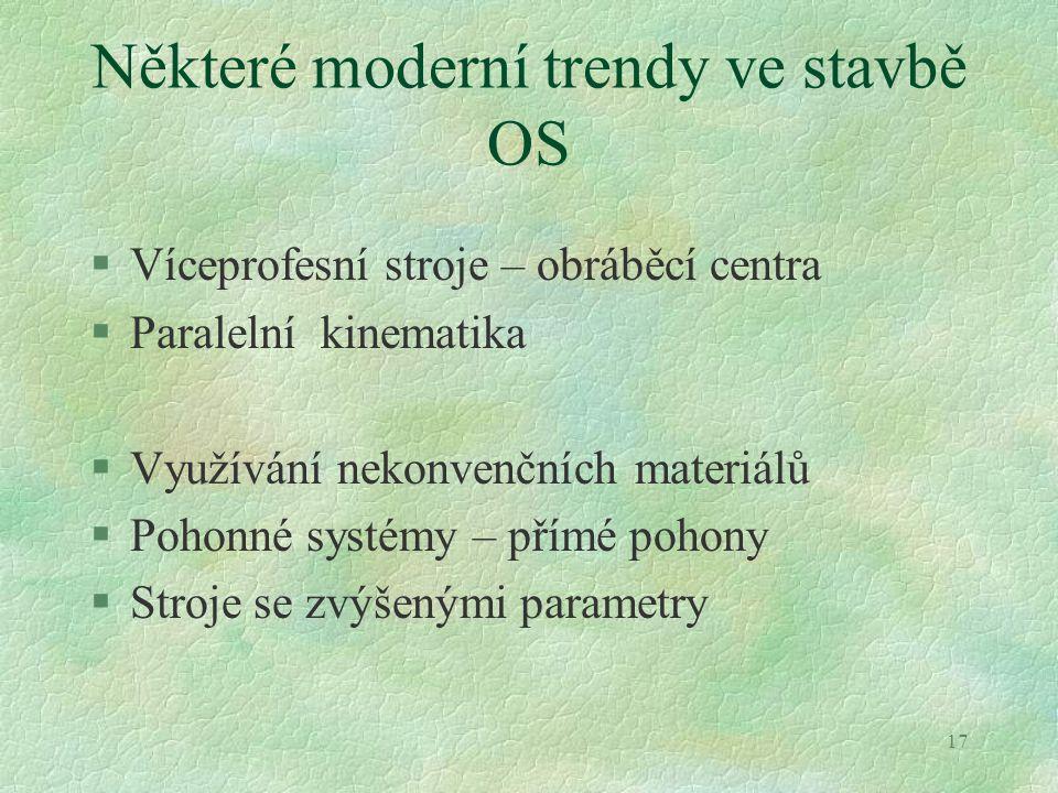 Některé moderní trendy ve stavbě OS