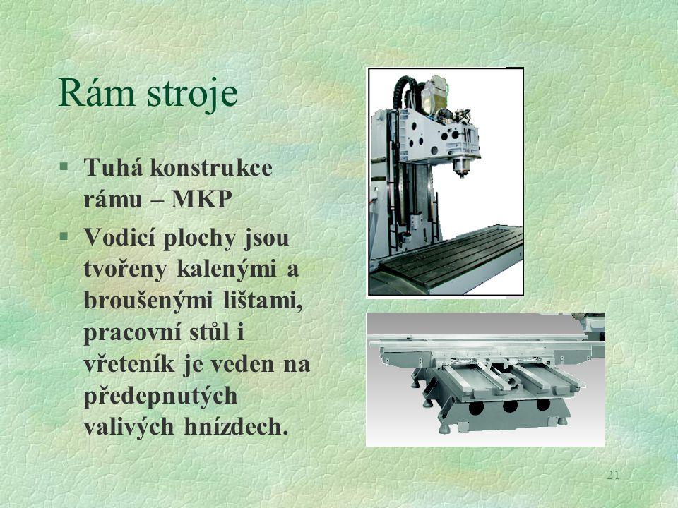Rám stroje Tuhá konstrukce rámu – MKP