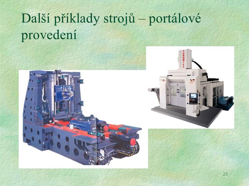 Další příklady strojů – portálové provedení