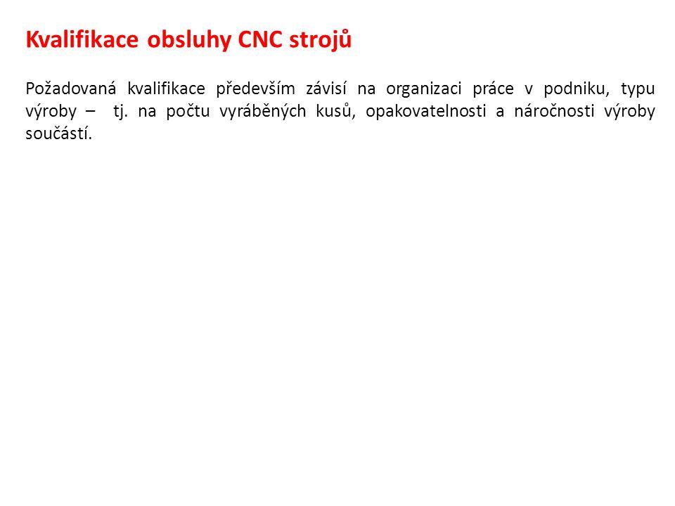 Kvalifikace obsluhy CNC strojů