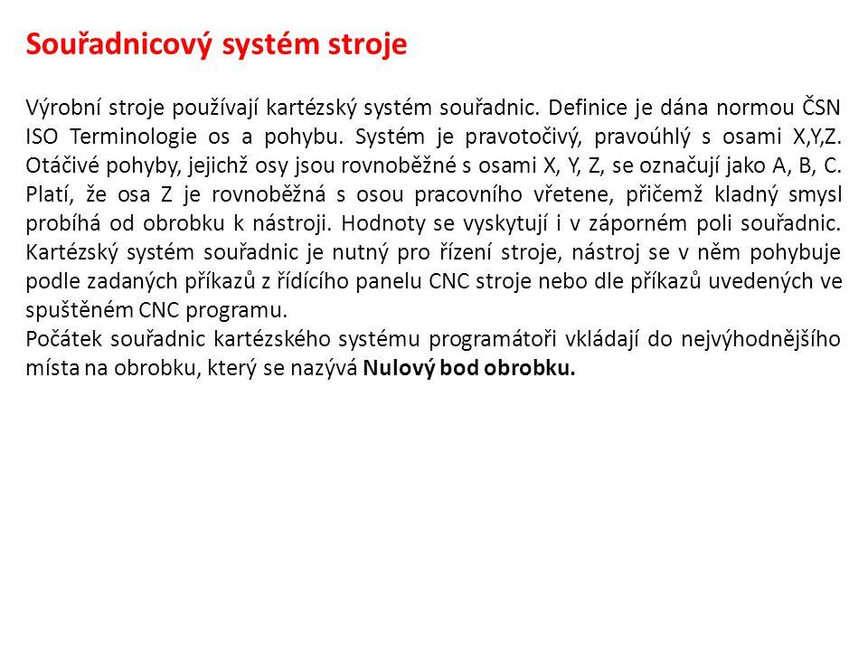 Souřadnicový systém stroje