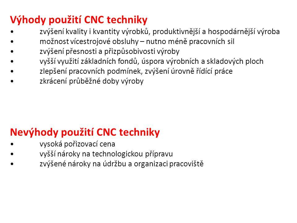 Výhody použití CNC techniky