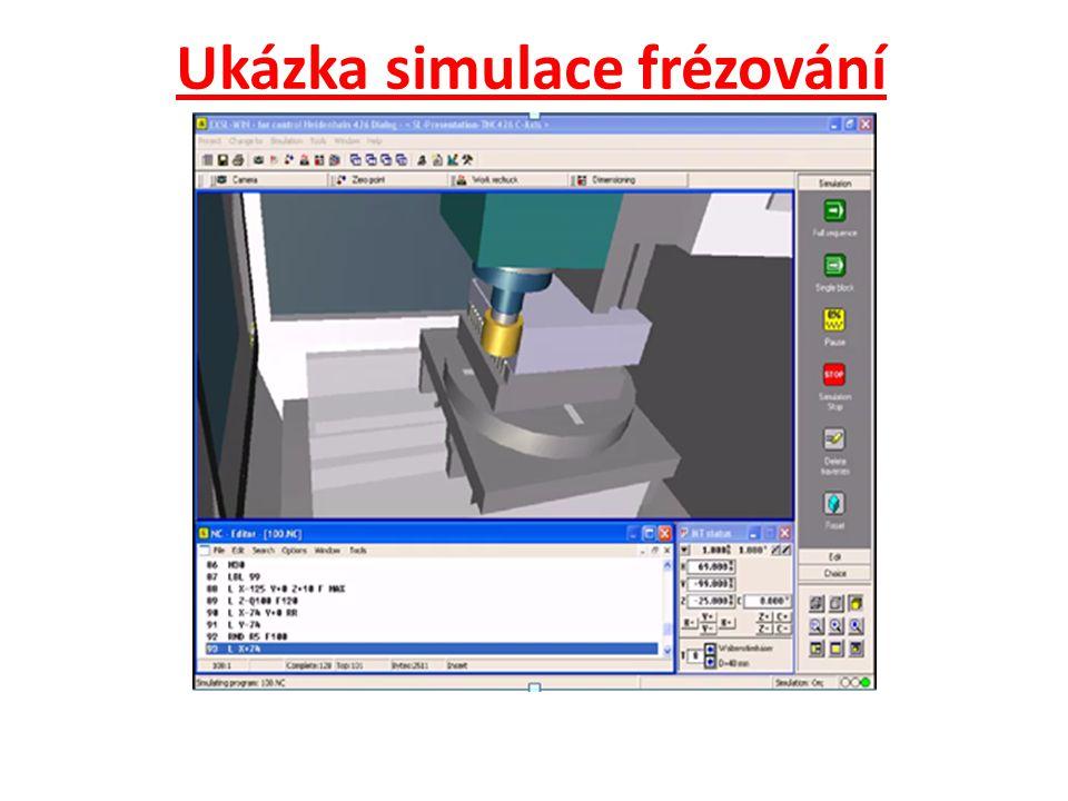Ukázka simulace frézování