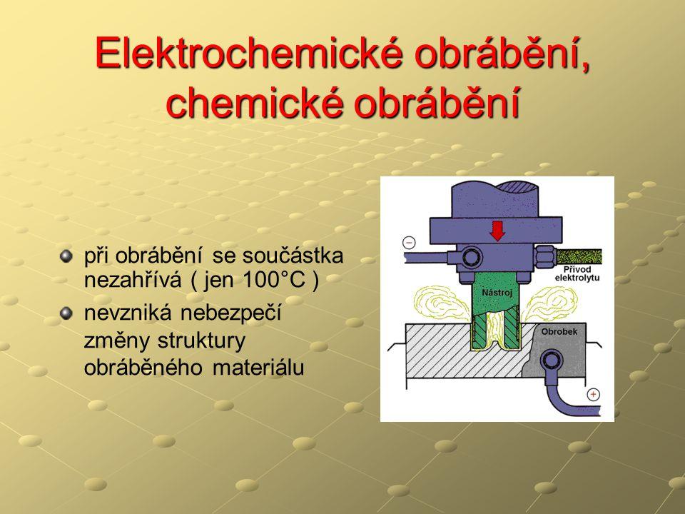 Elektrochemické obrábění, chemické obrábění