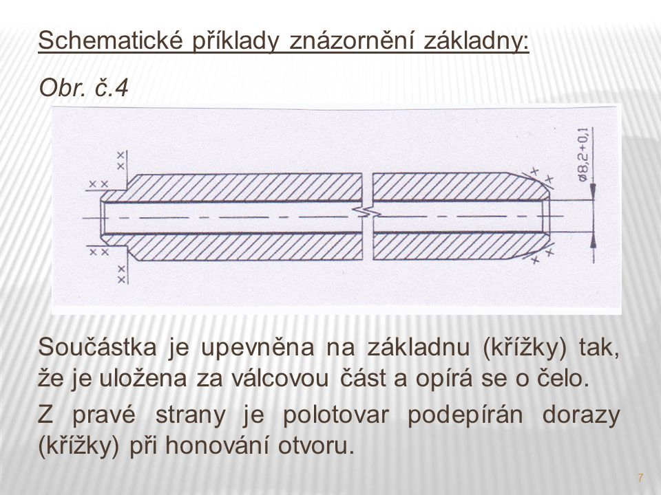 Schematické příklady znázornění základny: Obr. č.4
