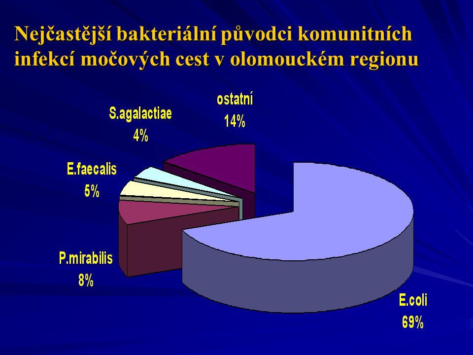 Nejčastější bakteriální původci komunitních infekcí močových cest v olomouckém regionu