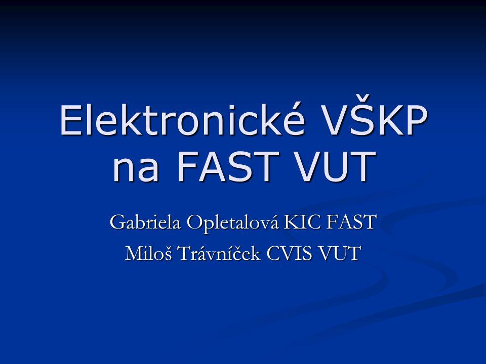 Elektronické VŠKP na FAST VUT
