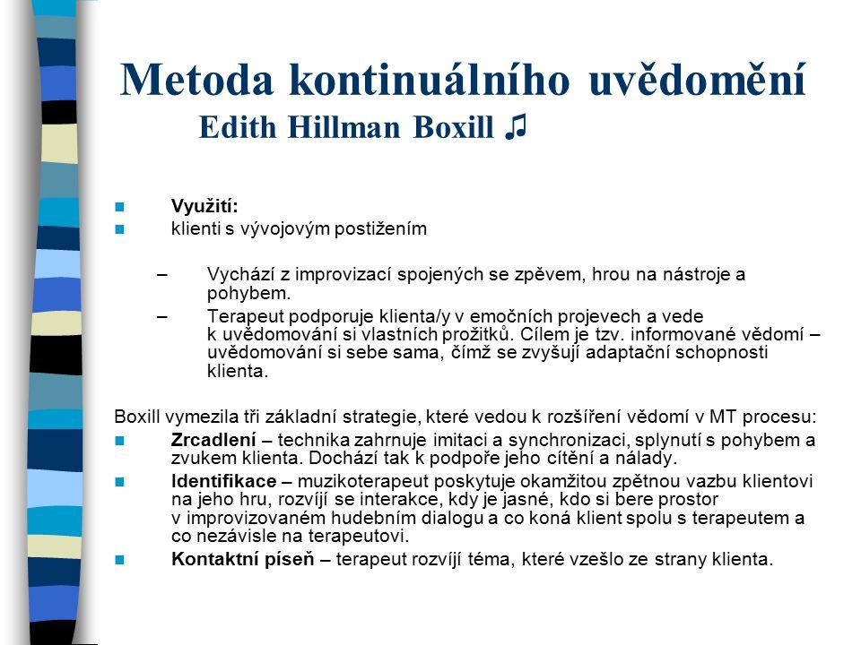 Metoda kontinuálního uvědomění Edith Hillman Boxill ♫