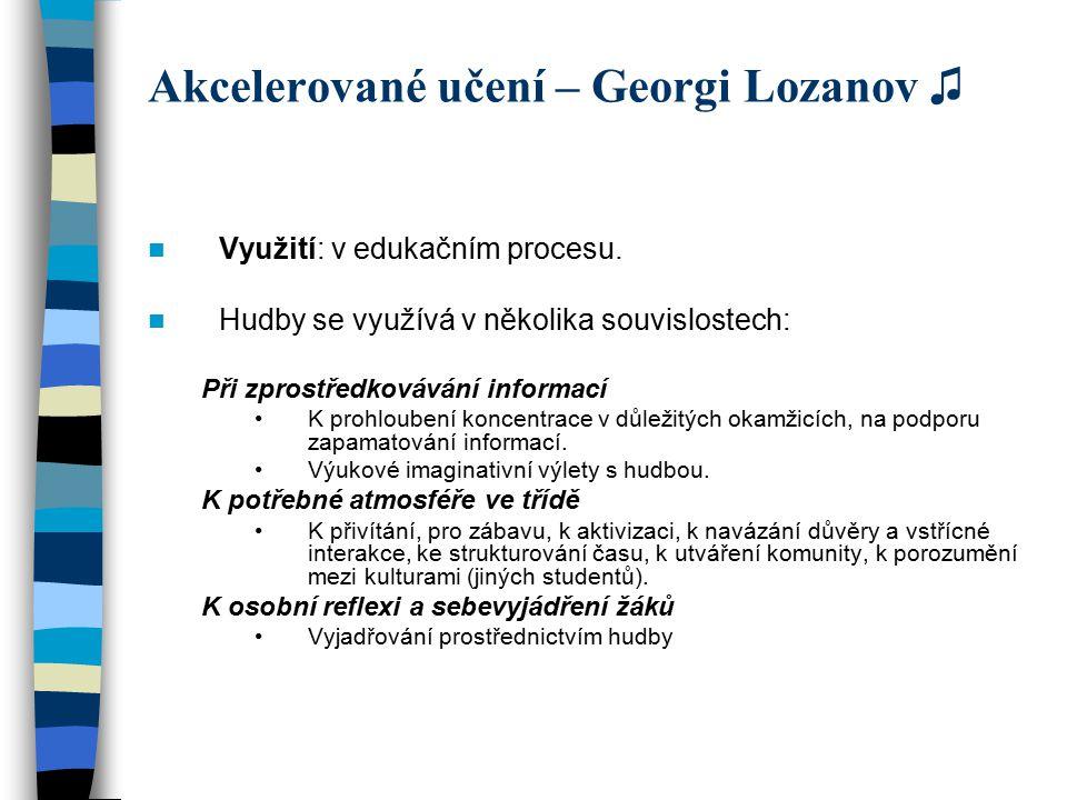 Akcelerované učení – Georgi Lozanov ♫