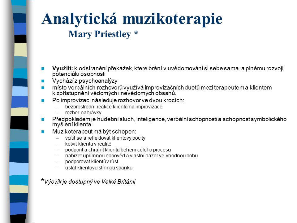 Analytická muzikoterapie Mary Priestley *