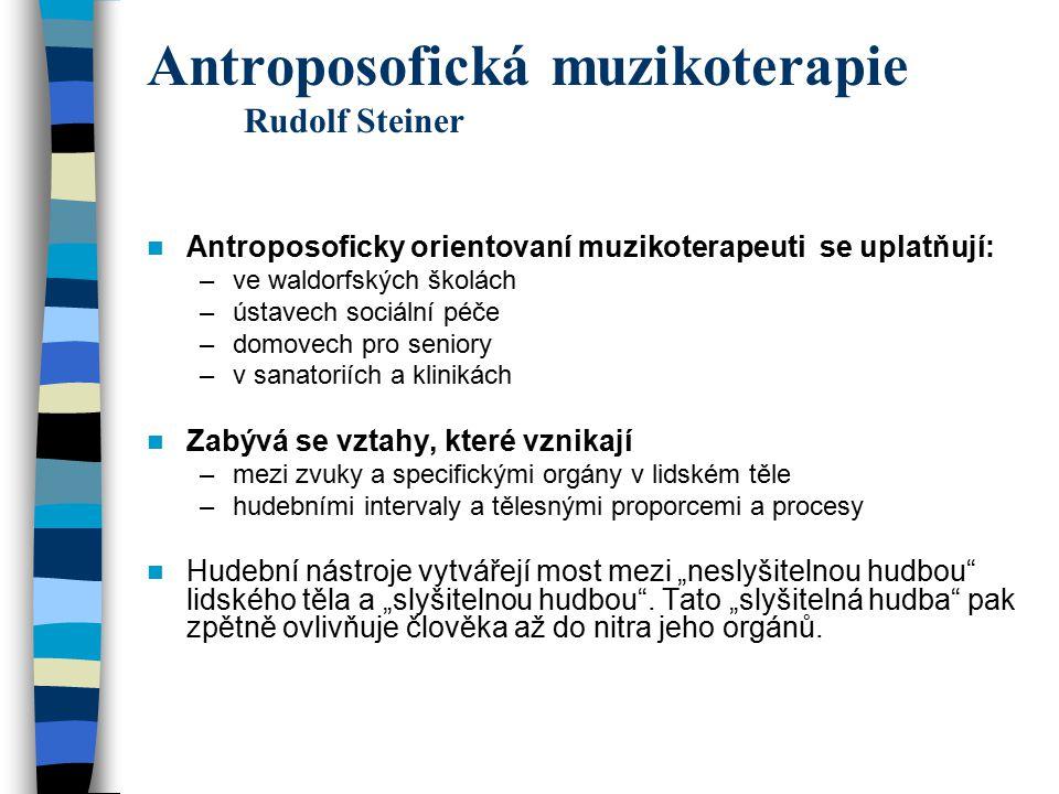 Antroposofická muzikoterapie Rudolf Steiner