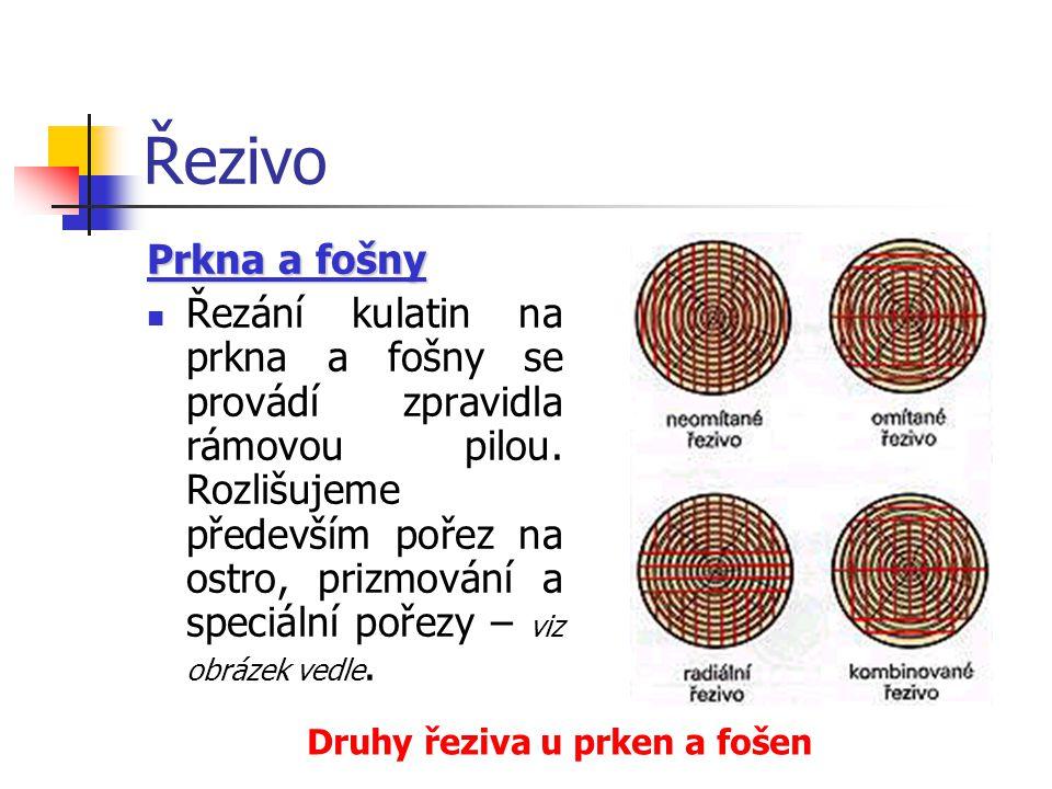 Řezivo Prkna a fošny.
