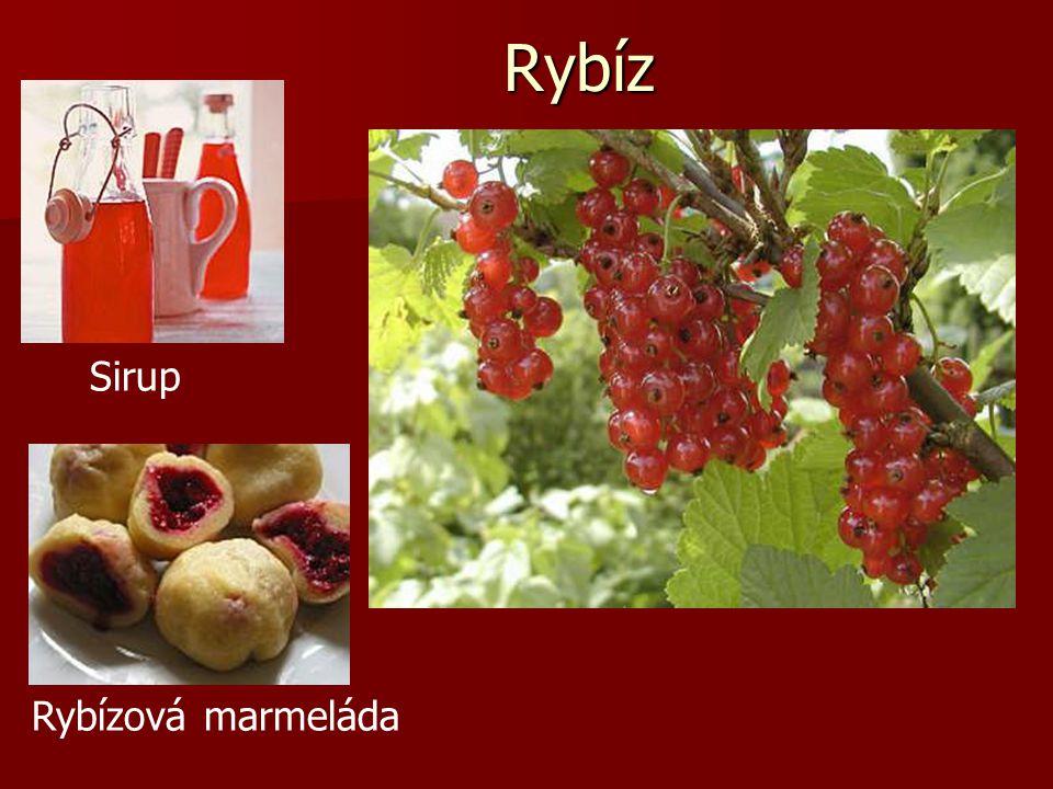 Rybíz Sirup Rybízová marmeláda