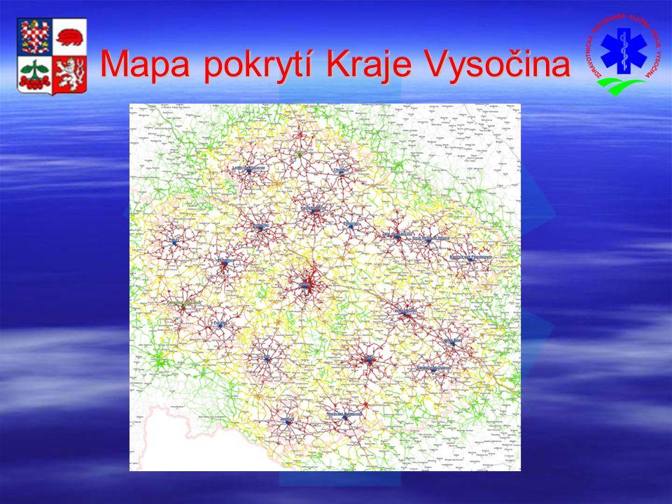 Mapa pokrytí Kraje Vysočina