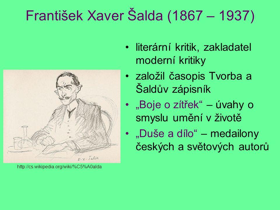 František Xaver Šalda (1867 – 1937)