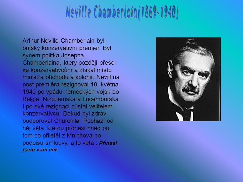 Neville Chamberlain(1869-1940)