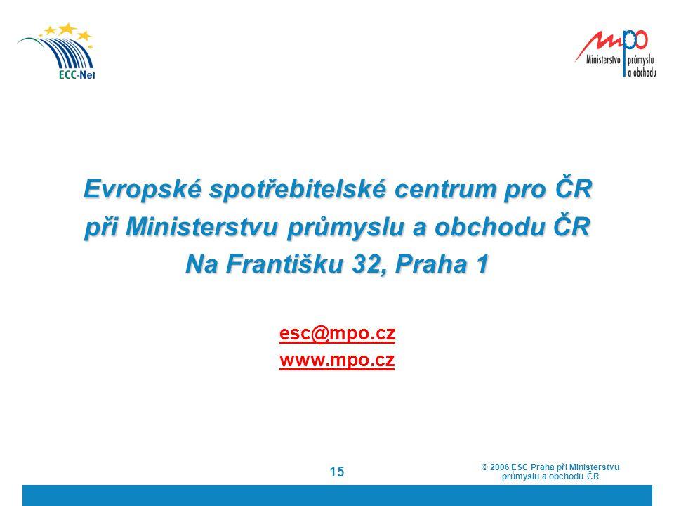 Evropské spotřebitelské centrum pro ČR