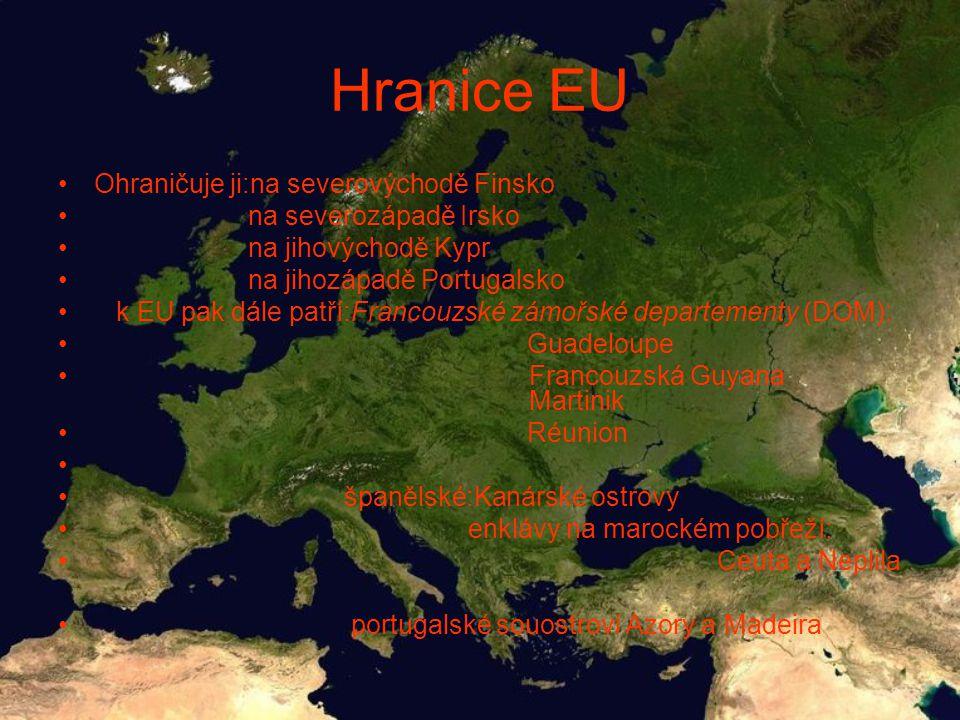 Hranice EU Ohraničuje ji:na severovýchodě Finsko na severozápadě Irsko