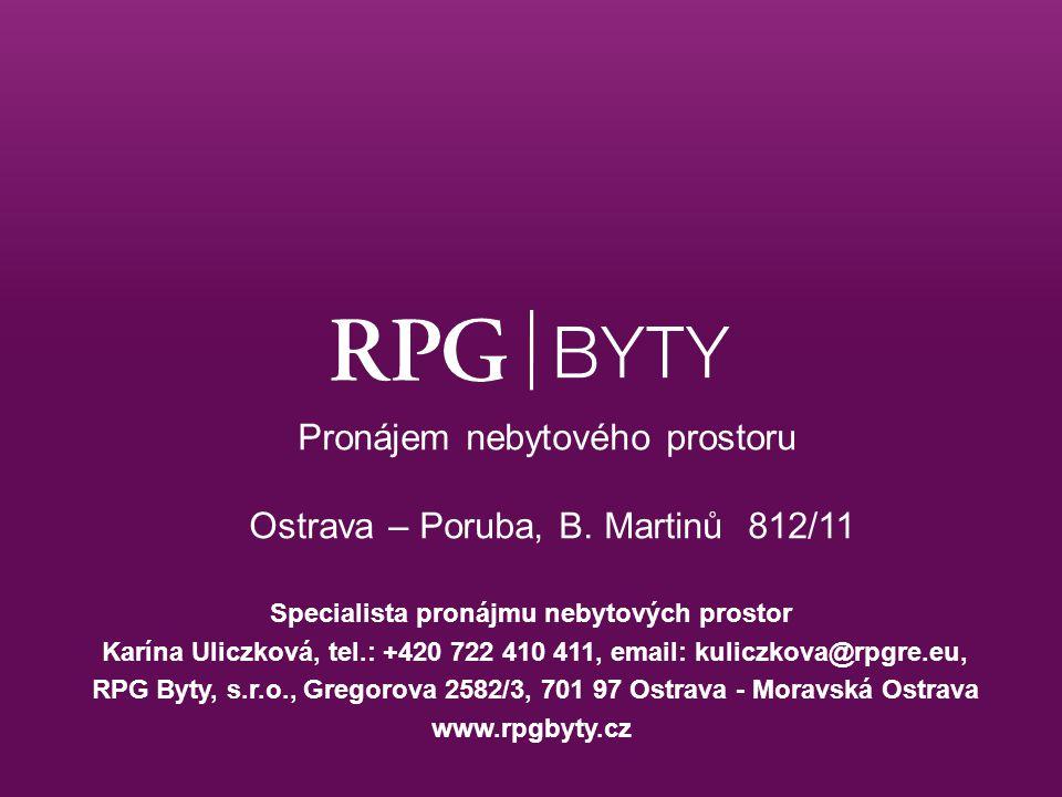 Pronájem nebytového prostoru Ostrava – Poruba, B. Martinů 812/11
