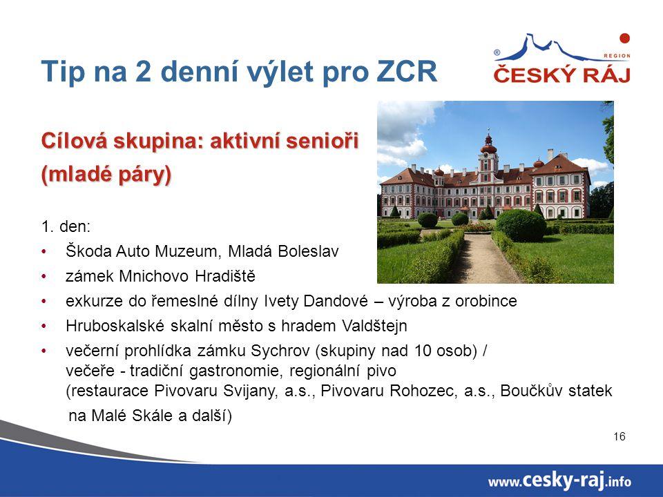 Tip na 2 denní výlet pro ZCR