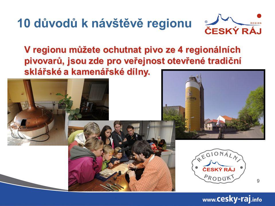 10 důvodů k návštěvě regionu