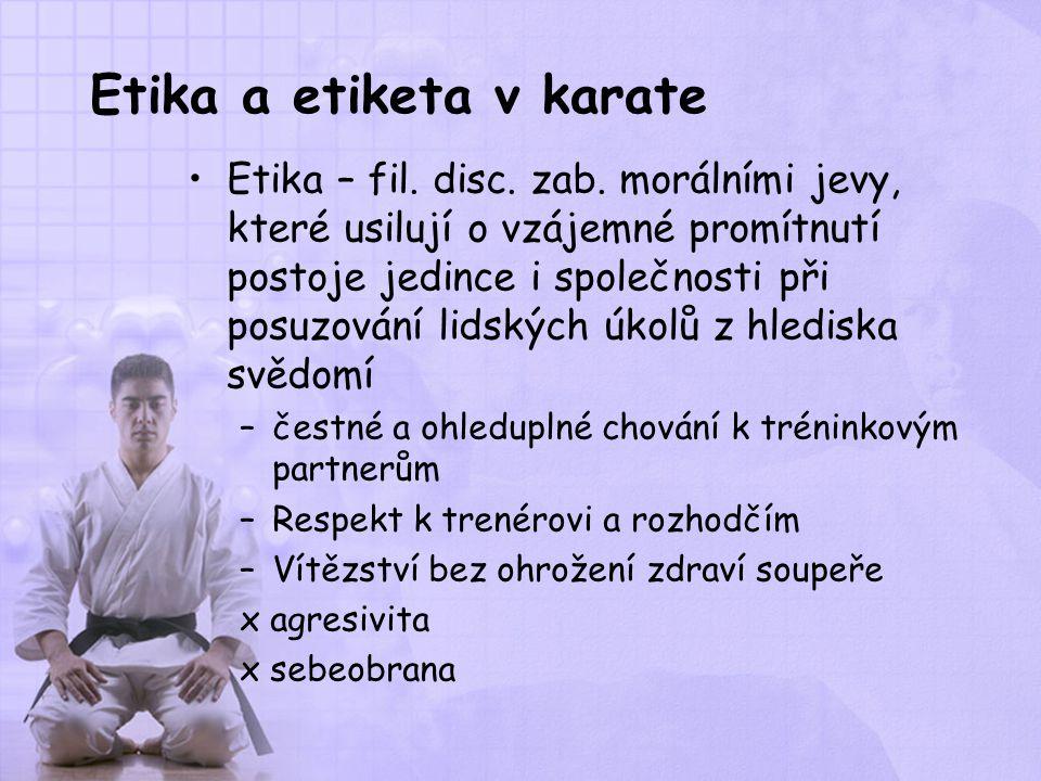 Etika a etiketa v karate