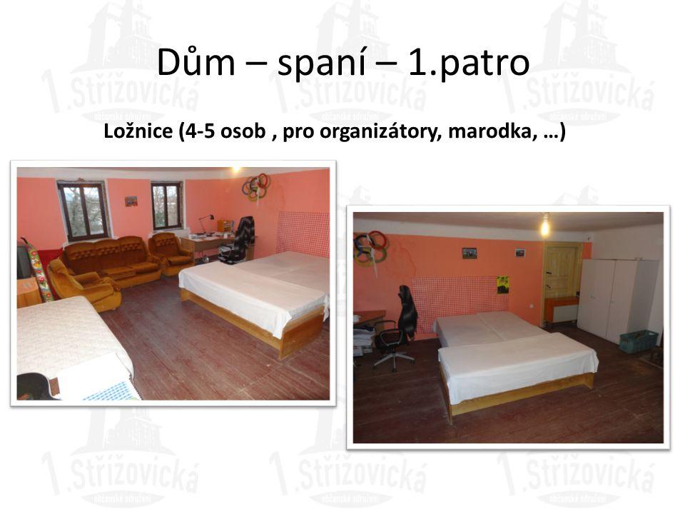 Ložnice (4-5 osob , pro organizátory, marodka, …)