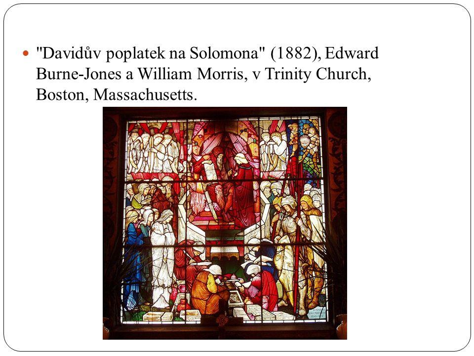Davidův poplatek na Solomona (1882), Edward Burne-Jones a William Morris, v Trinity Church, Boston, Massachusetts.