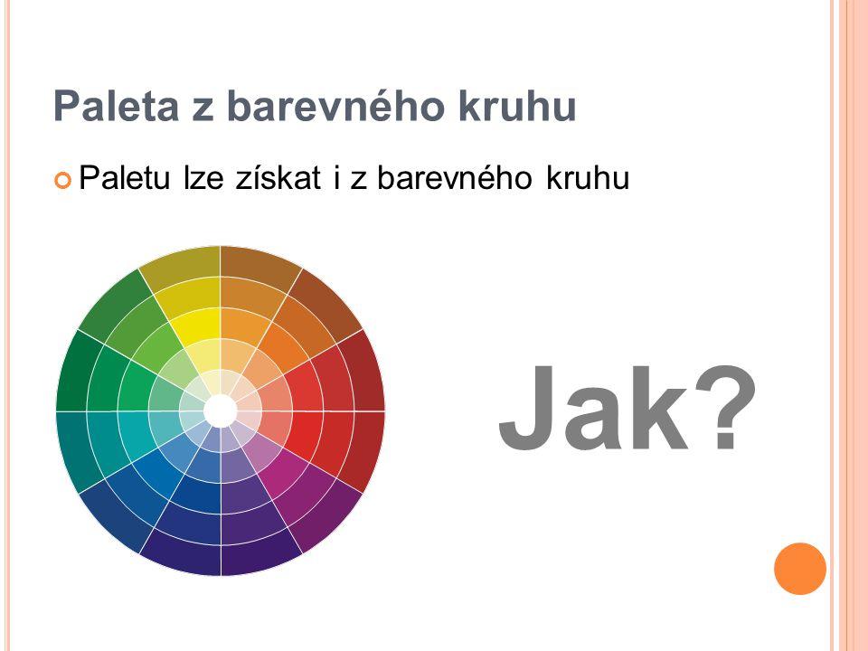 Paleta z barevného kruhu