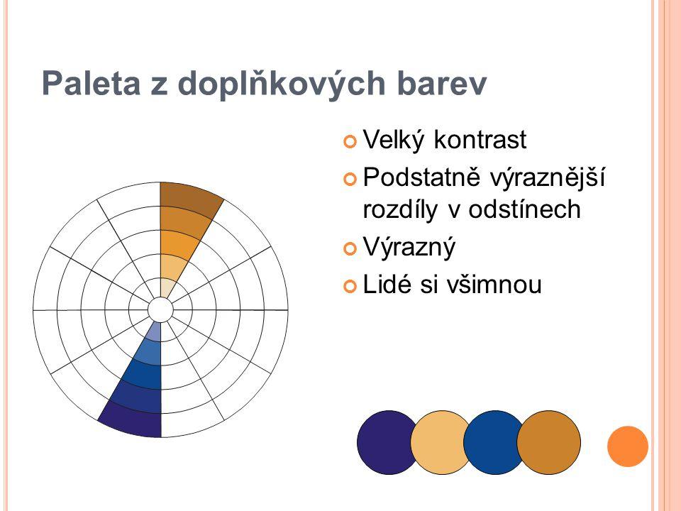 Paleta z doplňkových barev