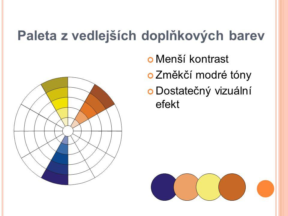 Paleta z vedlejších doplňkových barev