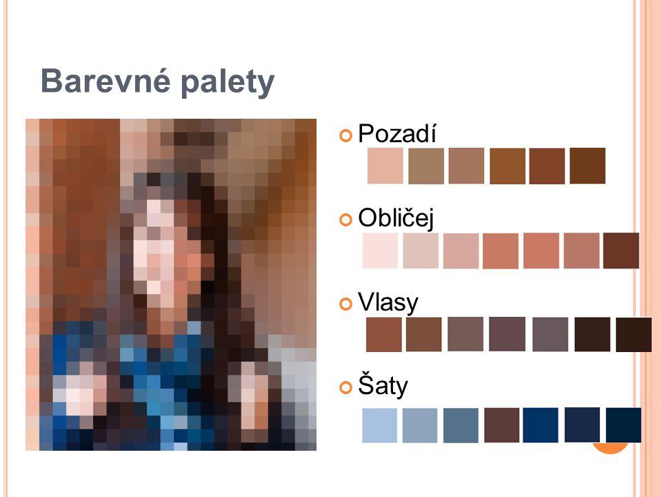 Barevné palety Pozadí Obličej Vlasy Šaty