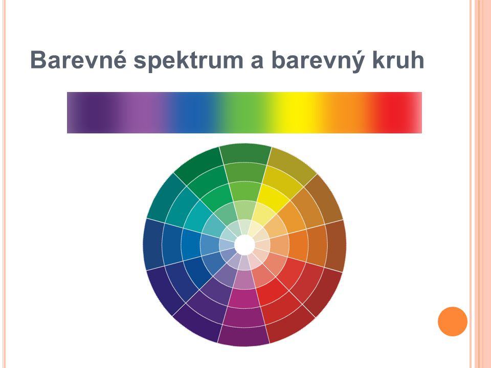 Barevné spektrum a barevný kruh