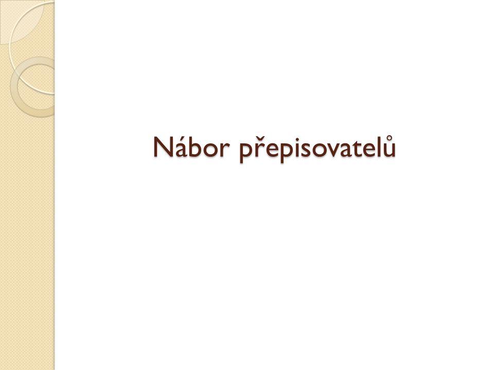 Nábor přepisovatelů