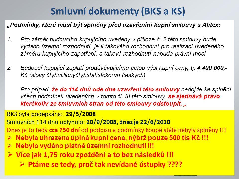 Smluvní dokumenty (BKS a KS)