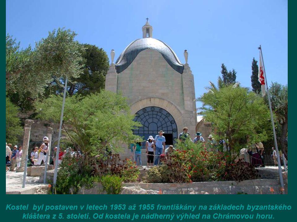 Kostel byl postaven v letech 1953 až 1955 františkány na základech byzantského kláštera z 5.