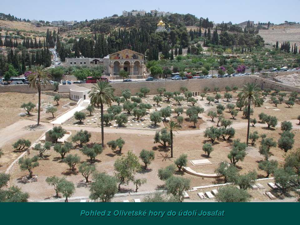 Pohled z Olivetské hory do údolí Josafat